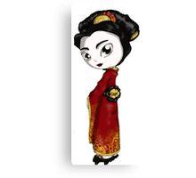 Red Fortune Geisha I Canvas Print