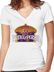 Prince of Persia Pixel Style- Retro DOS game fan items Women's Fitted V-Neck T-Shirt
