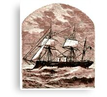A Steamship Braves the Storm Canvas Print