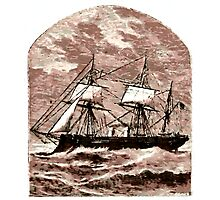 A Steamship Braves the Storm Photographic Print