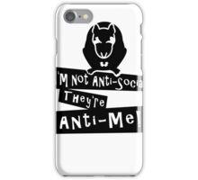 I'm not anti-social Rat VRS2 iPhone Case/Skin