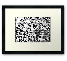inner dimension Framed Print