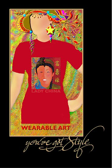 'Lady China' You've Got Style, Wearable Art, Greeting Card or Small Print by luvapples downunder/ Norval Arbogast