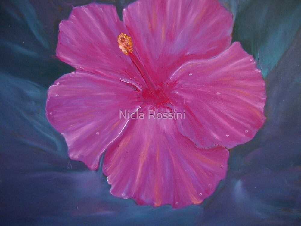 Hibyscus - floral by Nicla Rossini