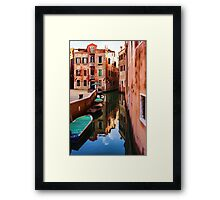Impressions of Venice - Wandering Around the Small Canals Framed Print