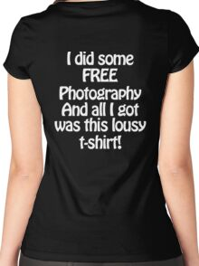 Free Photography II Women's Fitted Scoop T-Shirt