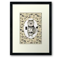 Wolf With Camera Framed Print