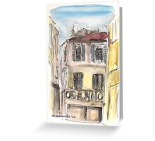 Old town center  Greeting Card