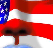 Usa Flag on Girl's Face Sticker