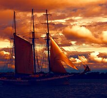 Tallship - Moody Blues and Powerful Oranges by Georgia Mizuleva