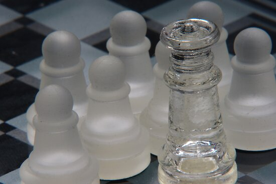 Chess Queen Surrounded by Pawns by Colin Bentham