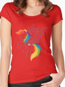 Colors of the Rainbow Women's Fitted Scoop T-Shirt