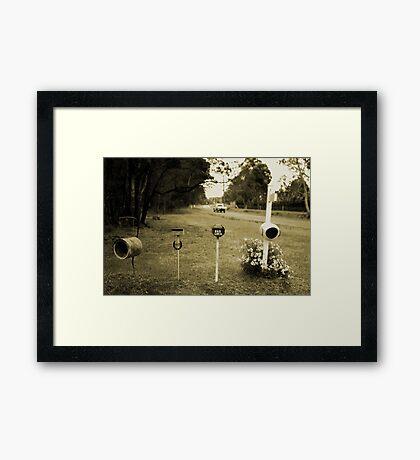 Rural Post Boxes Framed Print