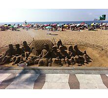 sand sculpture snow white Photographic Print