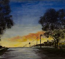 Sunset in the Burbs by rjpmcmahon