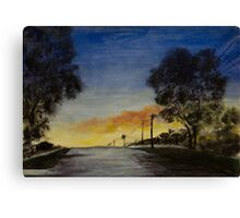 Sunset in the Burbs Canvas Print