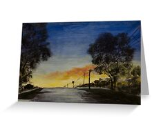 Sunset in the Burbs Greeting Card