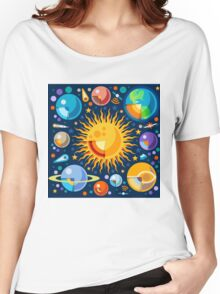 Solar System Infographics Women's Relaxed Fit T-Shirt