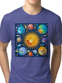 Solar System Infographics Tri-blend T-Shirt