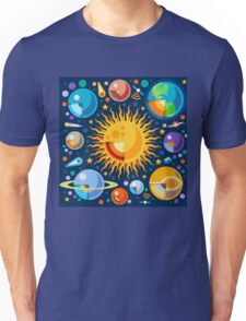 Solar System Infographics Unisex T-Shirt