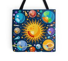 Solar System Infographics Tote Bag