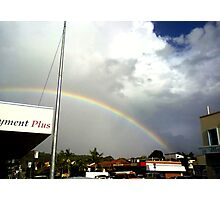 rainbow over suburbia  Photographic Print