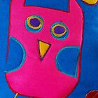 A cute colourful whimsical owl by Sarah Dawson-Spackman