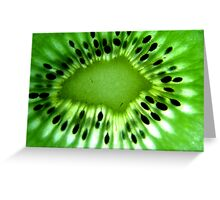 Macro photo of kiwi fruit Greeting Card