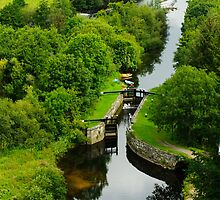 Clashganny Lock, on the River Barrow, County Carlow, Ireland by Andrew Jones