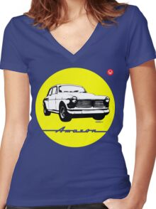 Volvo Amazon Women's Fitted V-Neck T-Shirt