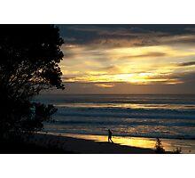 sunrise jogger Photographic Print