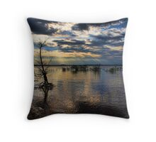 Shining Down On A Standup Tree Throw Pillow