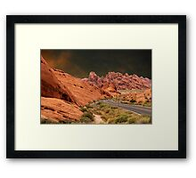 ☀DRIVING THROUGH THE VALLEY OF FIRE STATE PARK NEAR LAS VEGAS NEVADA ☀ Framed Print