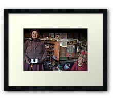They call him the 100 Rupee Lama. Nepal Framed Print
