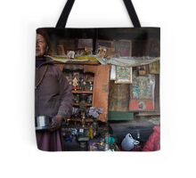 They call him the 100 Rupee Lama. Nepal Tote Bag