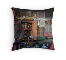 They call him the 100 Rupee Lama. Nepal Throw Pillow