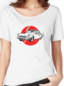Studebaker President emblem and illustration Women's Relaxed Fit T-Shirt