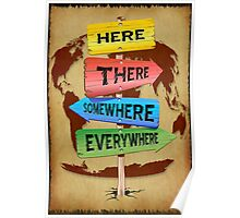 Directions Panels Wanderlust Poster