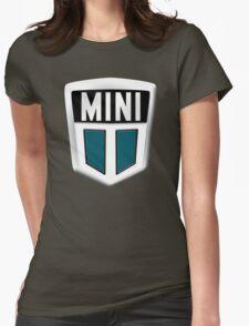 Classic Mini badge emblem Womens Fitted T-Shirt
