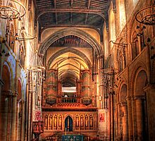 Rochester Cathedral interior  by larry flewers