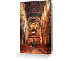 Rochester Cathedral interior  Greeting Card