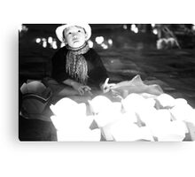 Lantern sales-boy Canvas Print