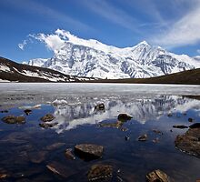 Ice Lake, 4600m, Manang, Nepal by John Spies