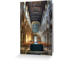 Rochester Cathedral interior   (2) Greeting Card
