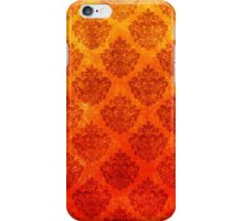 Colours of a Flaming Fire Ornate Damask Grunge Texture iPhone Case/Skin
