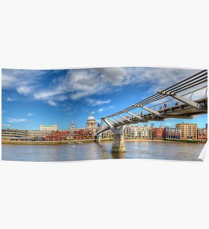 London South Walk Bridge Poster