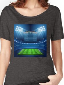 Football Stadium Background Women's Relaxed Fit T-Shirt
