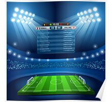 Football Stadium Background Poster