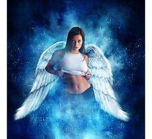 Ad Girl's Heaven Plea Photographic Print