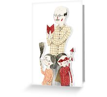 Family Portrait IV Greeting Card
